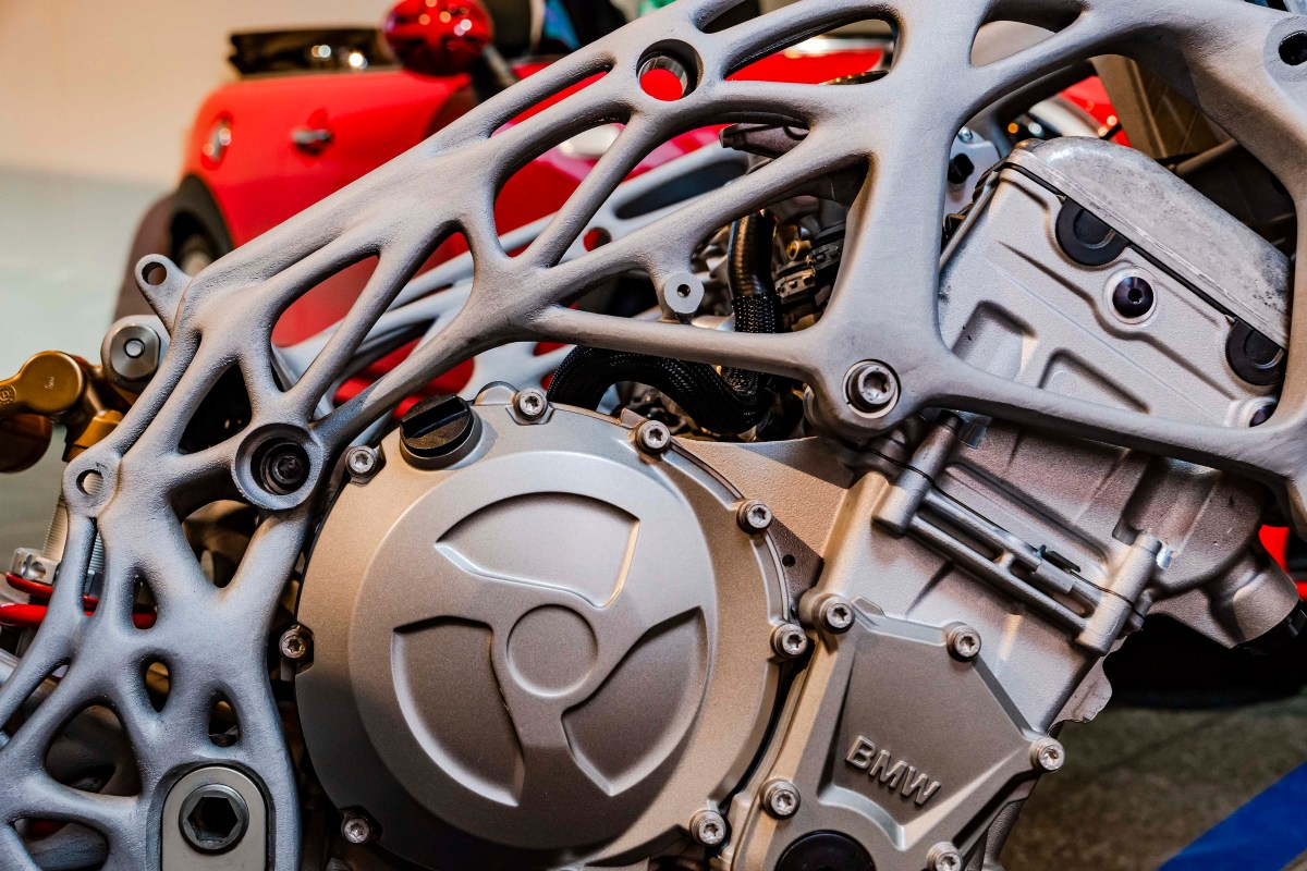 BMW Shows Off 3D Printed BMW S1000RR Frame