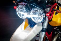 LED headlight, with DRL, so you know where the heck you're going.