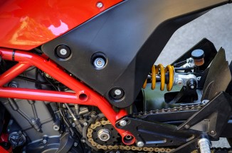 ...it allows perfect access to the compression setting on the rear shock