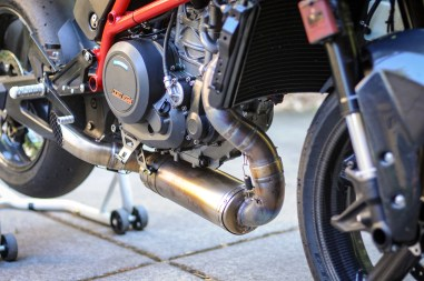 The Kramer exhaust is made by SST Racing