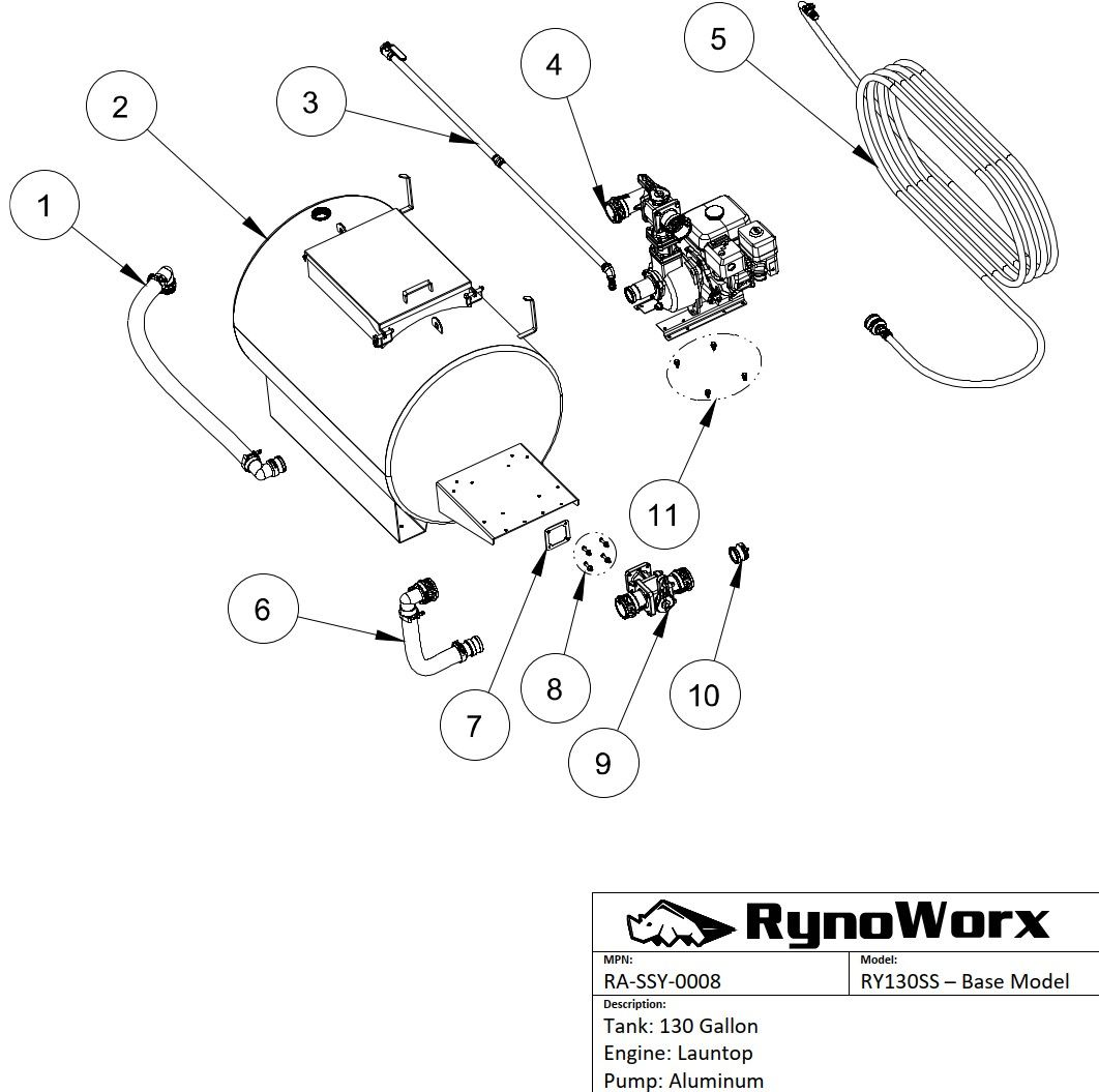 Engine Pump Fittings Assembly