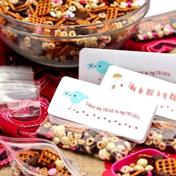 Homemade Trail Mix Valentine Snack