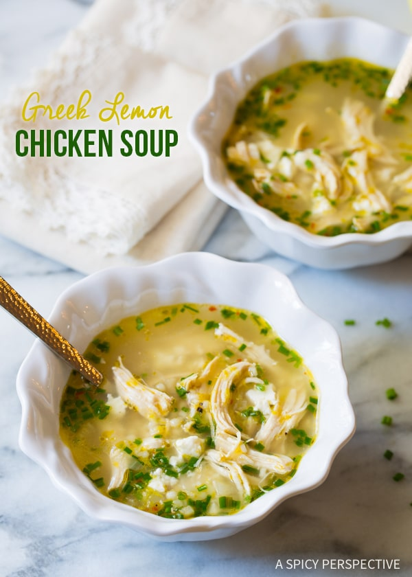 Greek Lemon Chicken Soup A Spicy Perspective