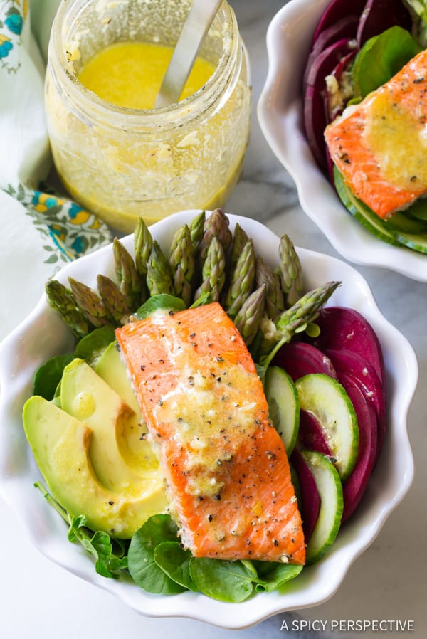 Roasted Salmon Detox Bowl {A Spicy Perspective}