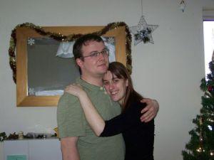 Amanda Hugging Tim