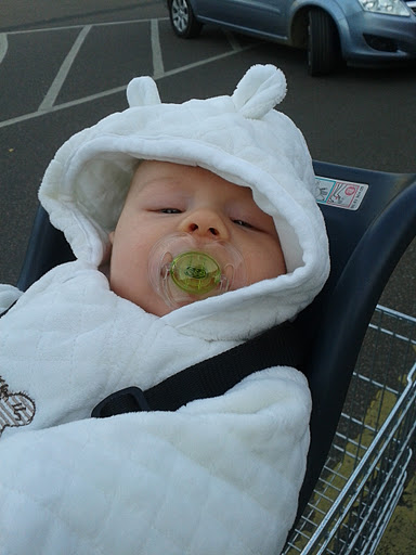 Little bear outfit on baby