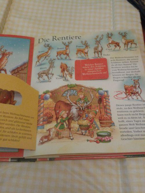 Santa's reindeer in German
