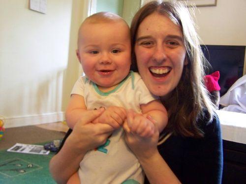 Amanda and Little Man both smiling
