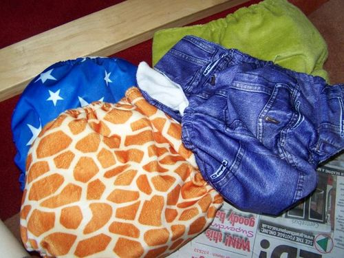 Cloth nappies in a variety of patterns