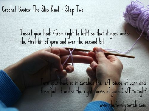 Family Patch Tutorial Slip Knot Step Two