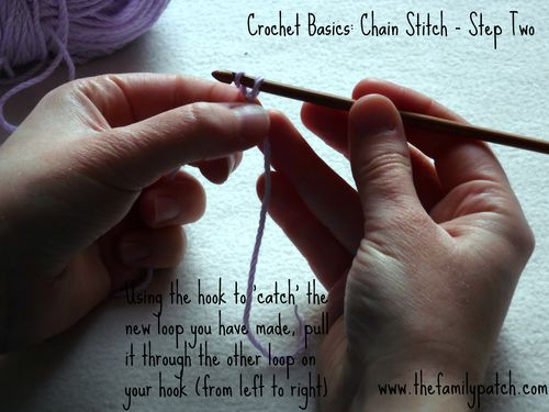 Family Patch Tutorial Chain Stitch Step Two