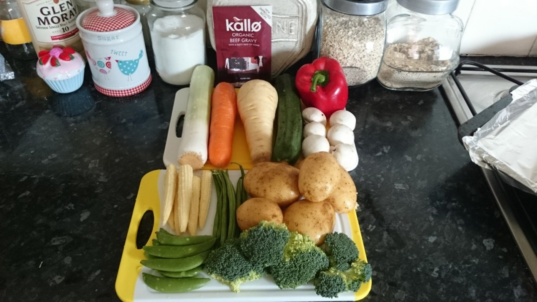 Roasted Vegetable Hot Pot Ingredients