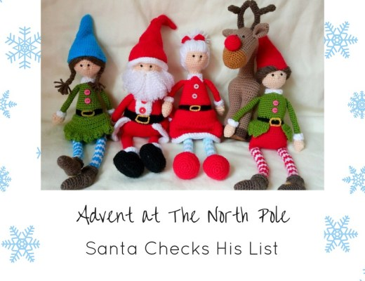 Advent at The North Pole Thumbnails Dec 18th - Santa Checks his List Twice
