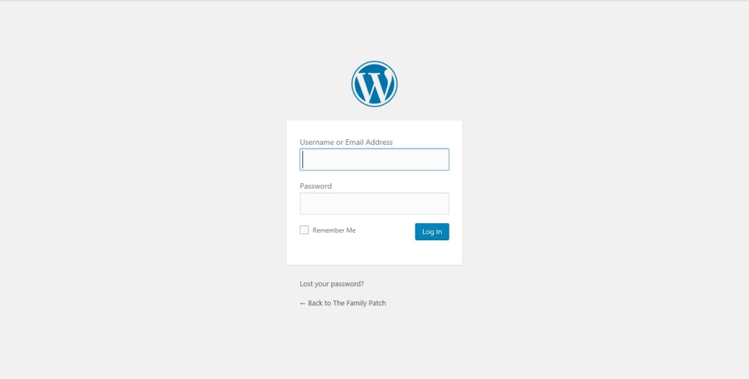 Wordpress for Beginners Series Part 1 WordPress.org login screen