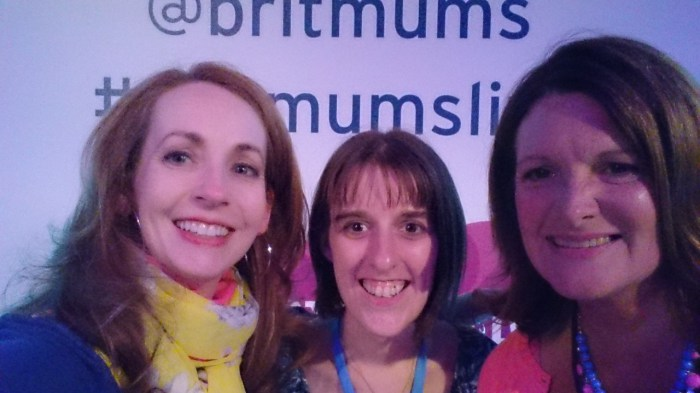 Amanda with the founders of Britmums at Britmums Live 2015