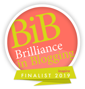 Brilliance in Blogging (BiBs) Award Finalist Logo for Inspire Category