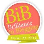 Brilliance in Blogging (BiBs) Award Finalist Logo for Inspire Category