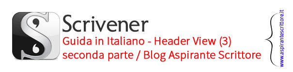 Scrivener guida italiano: header view - seconda parte (3)