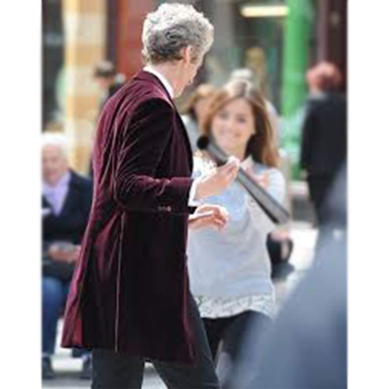 12th Doctor Who Velvet Coat Maroon