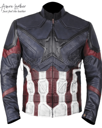 Avengers Endgame Infinity Distressed Captain America Leather Jacket