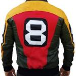 8 Ball Pool Seinfeld Michael Hoban Real Leather Bomber Jacket