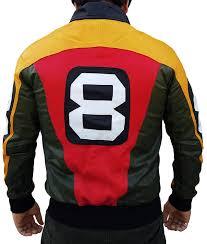 8 Ball Pool Seinfeld Michael Hoban Real Leather Bomber Jacket