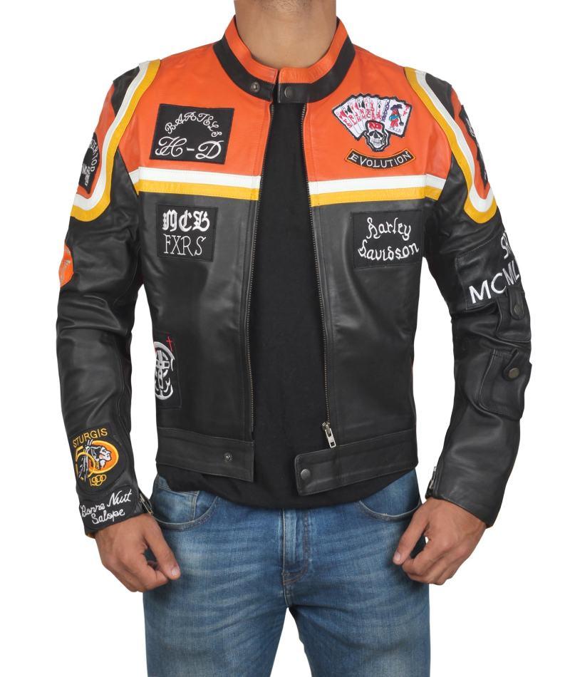 Harley Davidson and the Marlboro Man Leather Motorcycle Jacket