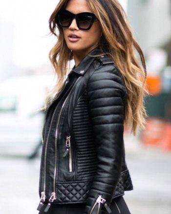 Khloe Kardashian Leather Jacket