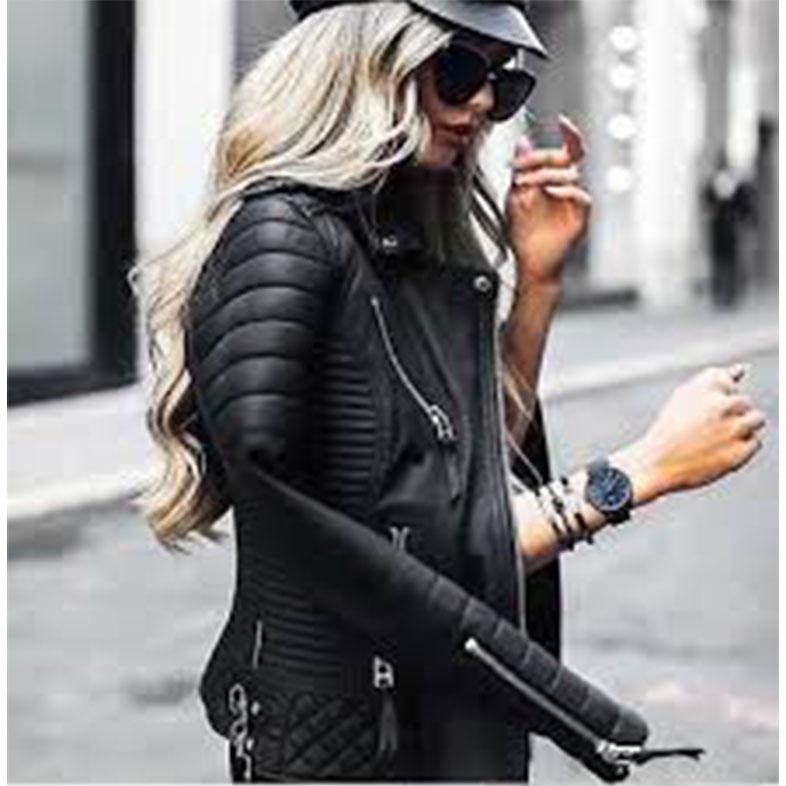Khloe Kardashian Black Quilted Jacket