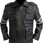 Resident Evil 6: Leon S Kennedy Black Cow Hide Leather Jacket