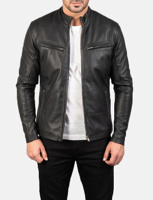 Tucson Black Cafe Racer Antique Jacket