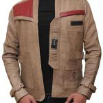 Arrivals Men's Poe Dameron Costume Star Wars Finn Leather Jacket