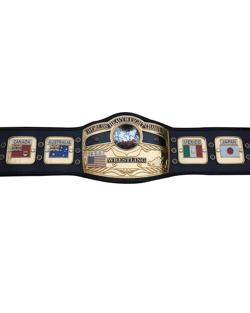 NWA Worlds Heavyweight Domed Globe Wrestling Championship Belt