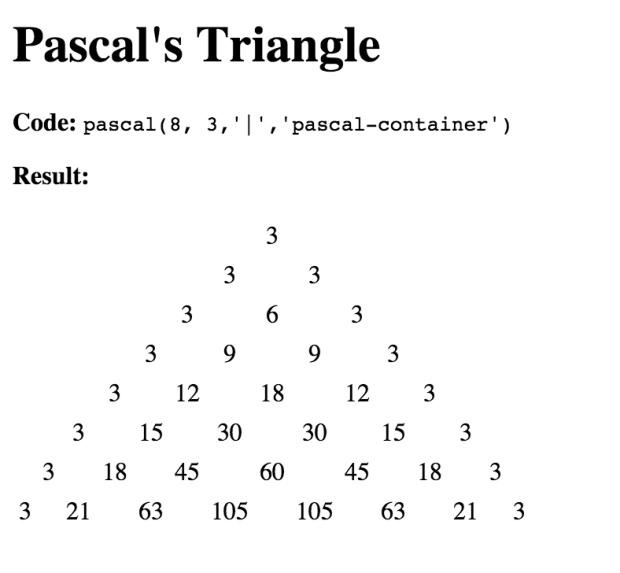 Pascal's Triangle in JavaScript | Aspire Media