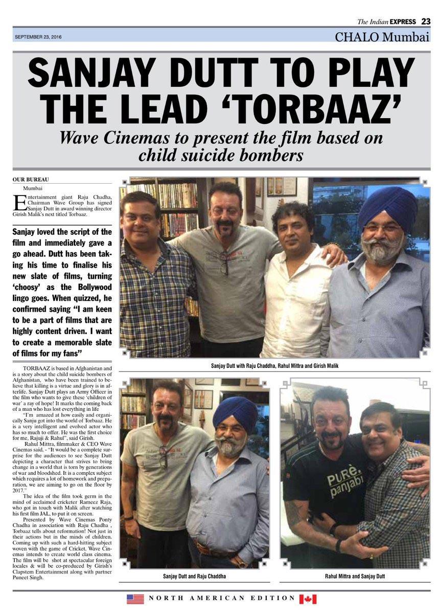 Rahul Mittra, Raju Chadha, Sanjay Dutt, Torbaaz, Torbaaz Movie,
