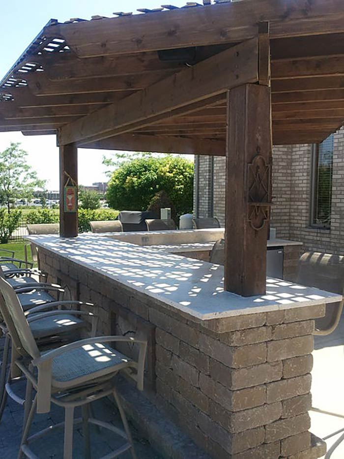 Outdoor Kitchens & Bars Gallery | Orland Park | All ... on Backyard Pool Bar Designs id=72449