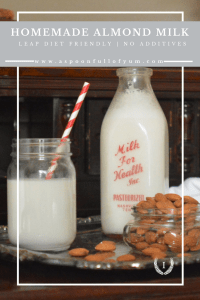 Homemade Almond Milk | www.aspoonfullofyum.com