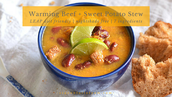 Warming Beef and Sweet Potato Stew | A Spoon Full of Yum