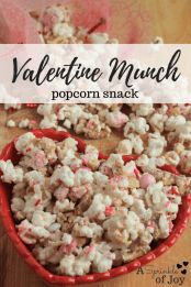 Go make a Valentine Munch Popcorn Snack with the lovely Danielle from A Sprinkle of Joy.