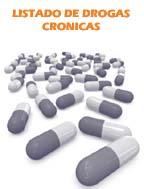 Listado drogas crónicas