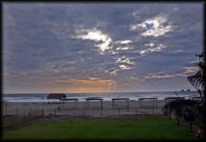 ayampe beach sunset