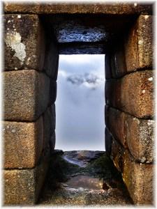 machu picchu cloud frame