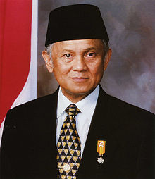 Presiden RI BJ Habibie