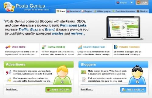 Program Paid Review Terbaru PostsGenius.com