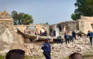مصرع طفلين في انهيار ثكنة عسكرية بوجدة و البحث جار عن آخرين تحت الأنقاض