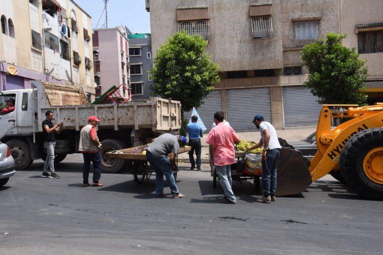 الدار البيضاء/عين الشق: حملات مكثفة لمحاربة الباعة المتجولين واحتلال الملك العام
