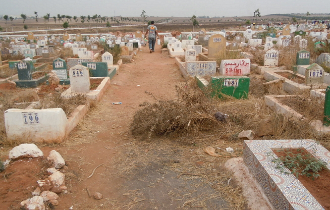 العثور على جثة رجل بمقبرة سيدي محمد بنعبد القادر ضواحي الدار البيضاء