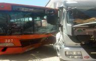 اصطدام بين شاحنة من الحجم الكبير وحافلة يرسل عدد من الركاب إلى مستعجلات بني ملال