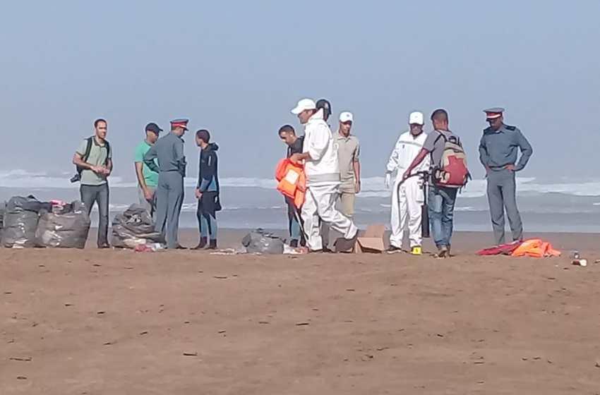 عين حرودة..البحر يلفظ جثث مرشحين للهجرة السرية بشاطئ زناتة – صور