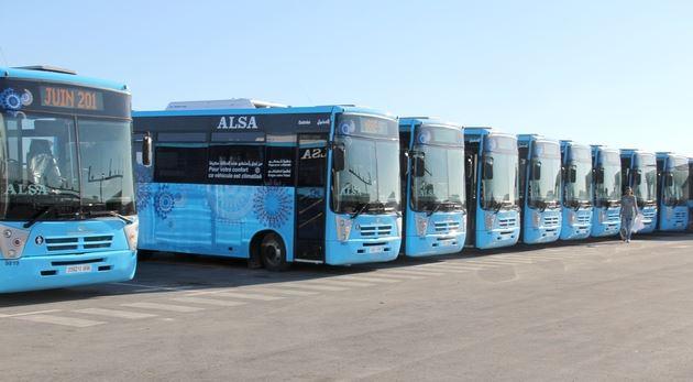 حافلات متطورة في الدار البيضاء